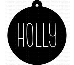 Holly Farmhouse Christmas Gift Tag SVG