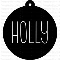 Holly Farmhouse Christmas Gift Tag SVG