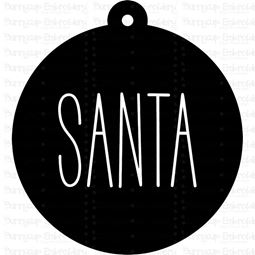 Santa Farmhouse Christmas Gift Tag SVG