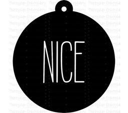 Nice Farmhouse Christmas Gift Tag SVG