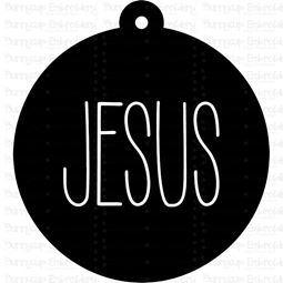 Jesus Farmhouse Christmas Gift Tag SVG