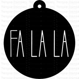 Fa La La Farmhouse Christmas Gift Tag SVG