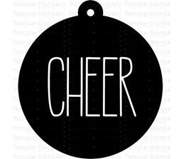 Cheer Farmhouse Christmas Gift Tag SVG
