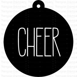 Cheer Farmhouse Christmas Gift Tag SVG