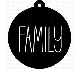 Family Farmhouse Christmas Gift Tag SVG