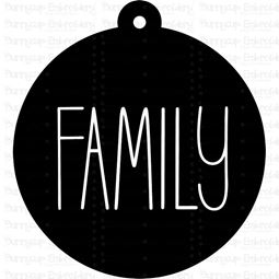 Family Farmhouse Christmas Gift Tag SVG
