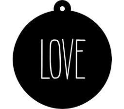 Love Farmhouse Christmas Gift Tag SVG