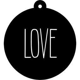 Love Farmhouse Christmas Gift Tag SVG