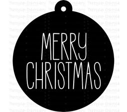 Merry Christmas Farmhouse Christmas Gift Tag SVG