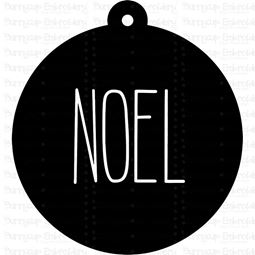 Noel Farmhouse Christmas Gift Tag SVG