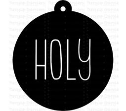 Holy Farmhouse Christmas Gift Tag SVG