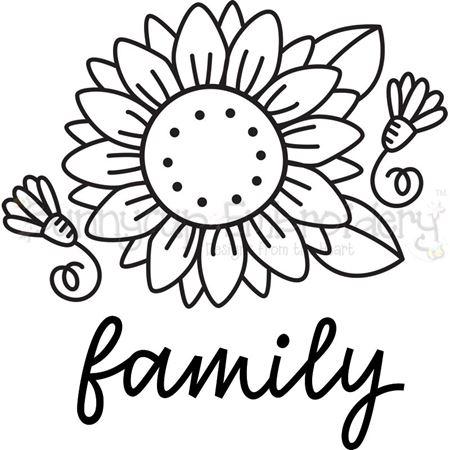 Sunflower Family SVG