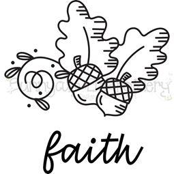 Acorns Faith SVG