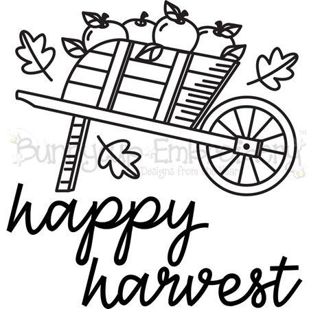 Wheelbarrow of Apples Happy Harvest 2 SVG