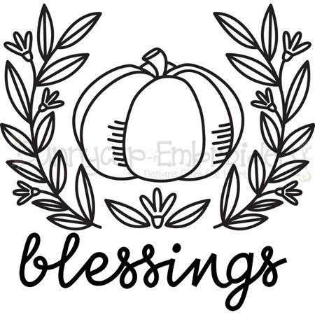 Pumpkin Blessings SVG