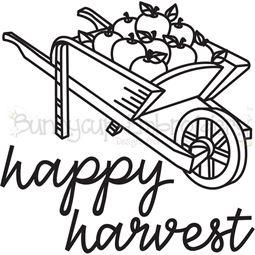 Wheelbarrow of Apples Happy Harvest 1 SVG