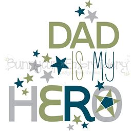 Dad Is My Hero SVG