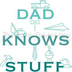 Dad Knows Stuff SVG