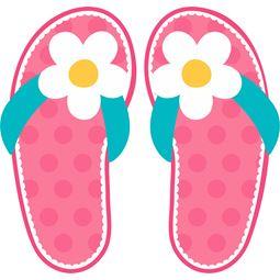 Daisy Pink Flip Flops SVG