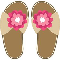 Pink Flower Flip Flops SVG