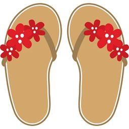 Red Flower Flip Flops SVG