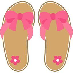 Pink Bow Flip Flops SVG
