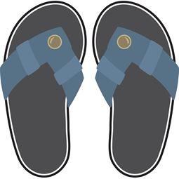 Denim Flip Flops SVG
