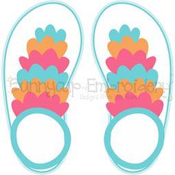 Ruffle Flip Flops SVG