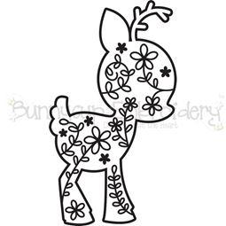 Floral Deer SVG