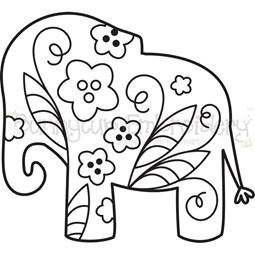 Floral Elephant SVG