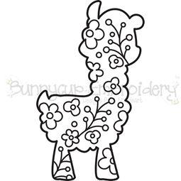 Floral Llama SVG