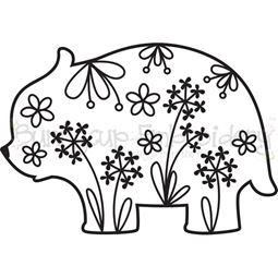 Floral Bear SVG