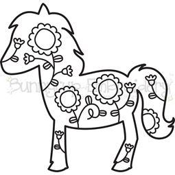Floral Horse SVG