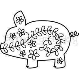 Floral Pig SVG