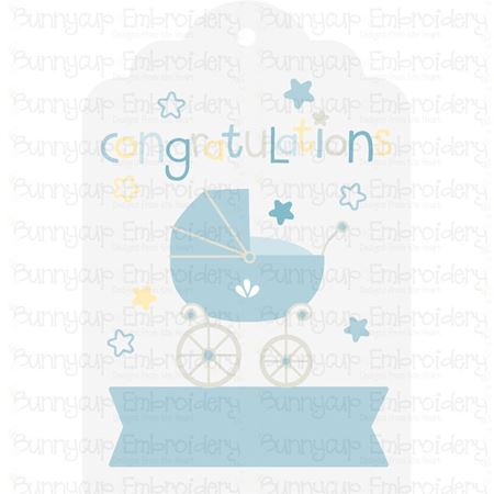 Baby Congratulations Gift Tag SVG