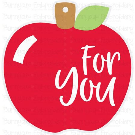 Apple For You Gift Tag SVG