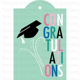 Graduation Congratulations Gift Tag SVG