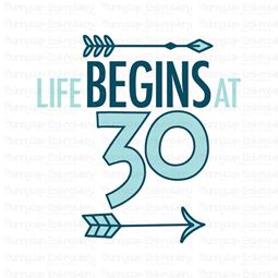 Life Begins at 30 SVG