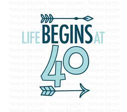 Life Begins at 40 SVG