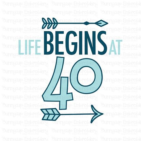 Life Begins at 40 SVG