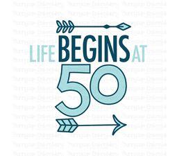 Life Begins at 50 SVG