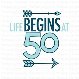 Life Begins at 50 SVG