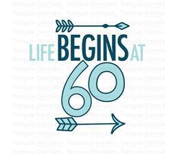 Life Begins at 60 SVG