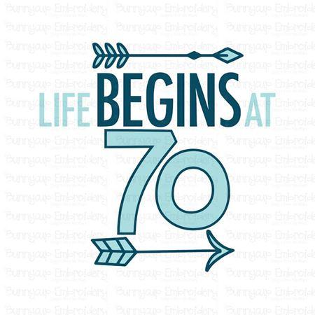 Life Begins at 70 SVG