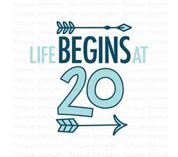 Life Begins At 20 SVG