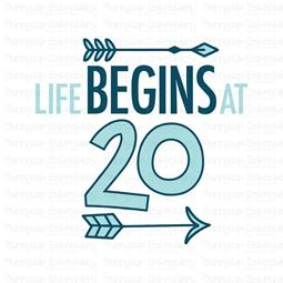 Life Begins At 20 SVG