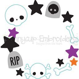 Graveyard Monogram Frame SVG
