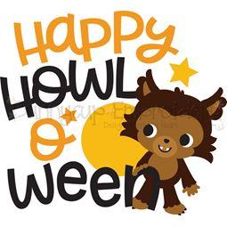 Happy Howloween Werewolf SVG