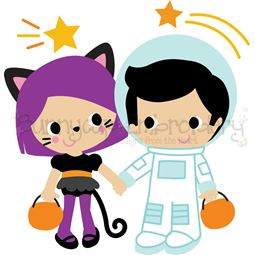 Astronaut and Cat Costumes SVG