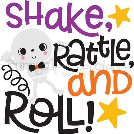 Shake Rattle And Roll Skeleton SVG